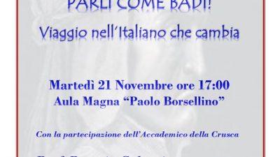 """IL """"GIORGI"""" DI BRINDISI METTE IN SCENA LO SPETTACOLO """"PARLI COME BADI! – VIAGGIO NELL'ITALIANO CHE CAMBIA"""""""
