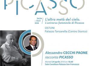 PICASSO, L'ALTRA META' DEL CIELO: A LECTIO MAGISTRALIS CON CECCHI PAONE