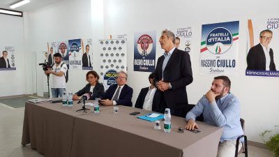 AMMINISTRATIVE – PRESENTATA LA LISTA FRATELLI D'ITALIA-MOVIMENTO+39 A SOSTEGNO DI CIULLO – VIDEO