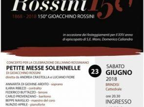 """SABATO 23 GIUGNO SARÀ ESEGUITA LA """"PETITE MESSE SOLENNELLE"""" DI GIOACCHINO ROSSINI IN CATTEDRALE"""