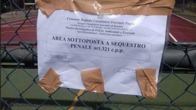 SEQUESTRO DEI CARABINIERI FORESTALI – CELLINO SAN MARCO: CAMPO DA TENNIS ABUSIVO.DENUNCIATI I 4 PROPRIETARI