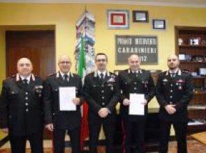 IL COMANDANTE DEI CARABINIERI INCONTRA I MILITARI DISTINTISI IN ATTIVITA' DI SERVIZIO