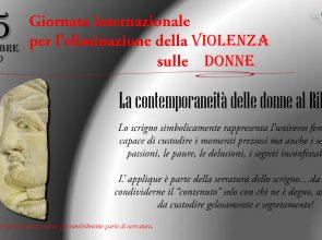 ANCHE IL MUSEO RIBEZZO CELEBRA LA GIORNATA INTERNAZIONALE CONTRO LA VIOLENZA SULLE DONNE