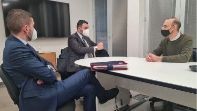 IERI A CAROVIGNO L'ASSESSORE REGIONALE DELLI NOCI
