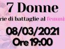 "GD PROVINCIA DI BRINDISI: EVENTO ONLINE – ""7 DONNE: STORIE DI BATTAGLIE AL FEMMINILE"""